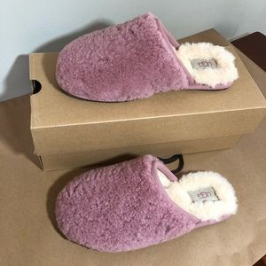 Ugg pearle curly cue pink dust slipper women's 7